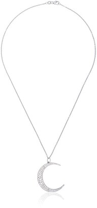 Andrea Fohrman 18kt white gold Luna diamond necklace