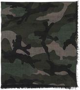 Valentino Camouflage Cashmere & Silk Blend Scarf