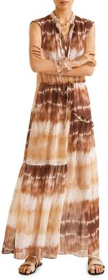 MANGO Tayito Tie-Dyed Maxi Dress