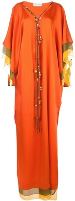 Oscar de la Renta layered long dress
