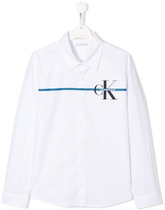 Calvin Klein Kids TEEN logo printed shirt