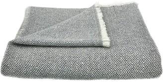 Slate & Salt Diamond Charcoal Cashmere Throw