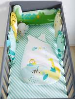 Adaptable Cot Bumper, Jungle Party Theme - green light all over printed, Furniture & Bedding | Vertbaudet