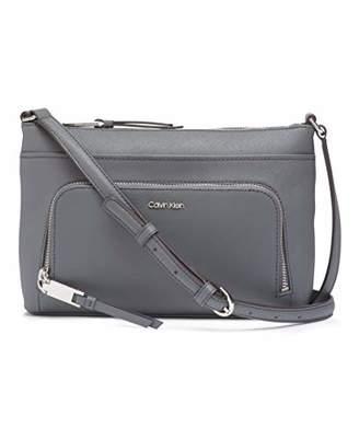 Calvin Klein Lily Saffiano Leather Top Zip Crossbody