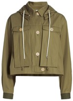 Loewe Hooded Military Cropped Jacket