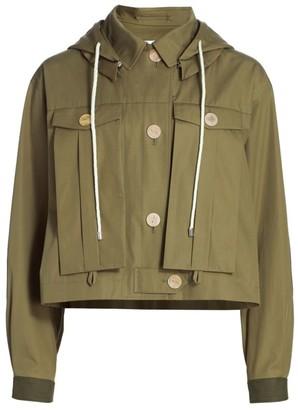 Loewe Hooded Military Cropped Jacket