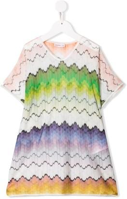 Missoni Kids patterned T-shirt dress