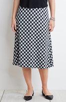 J. Jill Gingham A-Line Skirt