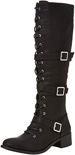 3e54dbeb25b Women's Freestyle Strappy Lace Up Boots High (Black A), (38 EU)