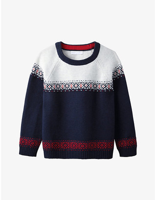 The Little White Company Fairisle knitted cotton-blend jumper 1-6 years