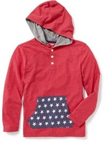 Old Navy Graphic Henley Hoodie for Boys
