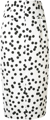 Racil Spotted Pencil Skirt