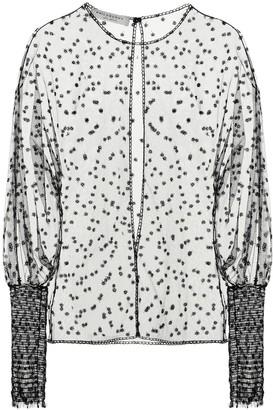 Philosophy di Lorenzo Serafini Embroidered tulle top