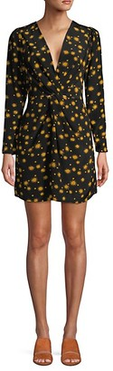 DELFI Collective Sun-Print Mini Silk Dress