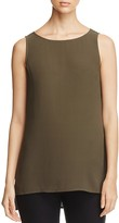 Eileen Fisher High Low Silk Tank
