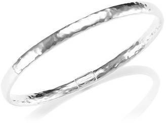 Ippolita Classico Narrow Sterling Silver Flat Hammered Bangle Bracelet