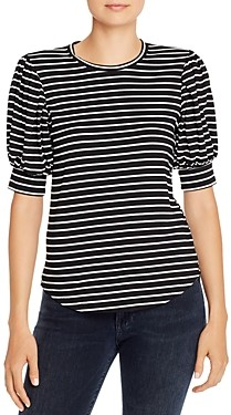 Frame Balloon-Sleeve Striped Tee