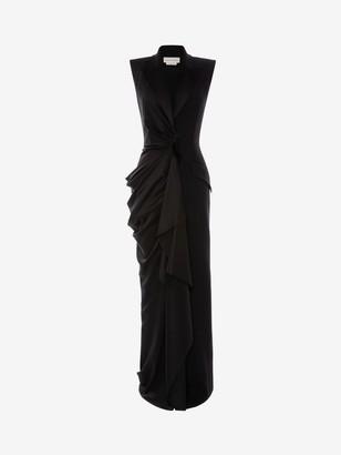 Alexander McQueen Tuxedo Drape Evening Dress
