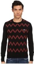Vivienne Westwood Zig Zag Crew Neck Sweater