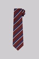 Savoy Taylors Guild Wine & Navy Stripe Silk Tie