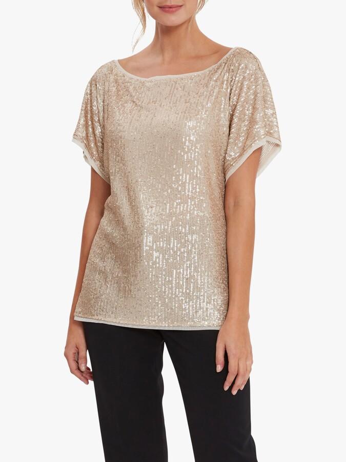 Gina Bacconi Lupe Stretch Embellished Top