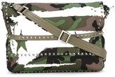 Valentino Garavani Valentino Rockstud camouflage patch shoulder bag - women - Calf Leather/Canvas - One Size