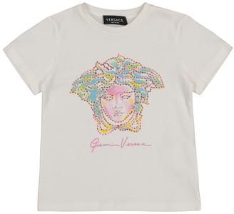 Versace Kids Embellished cotton T-shirt