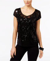 INC International Concepts Sequined Cap-Sleeve Top, Only at Macy's