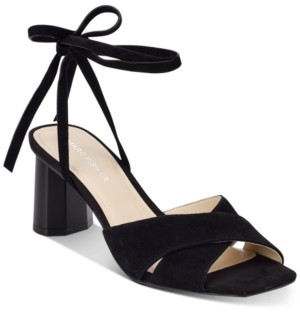 Marc Fisher Aliva Ankle-Tie Sandals Women's Shoes