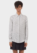 Versace Lightning Bolt Print Silk Shirt