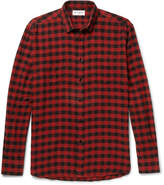 Saint Laurent - Buffalo Checked Cotton-flannel Shirt