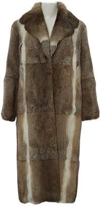 Celine Beige Rabbit Coats