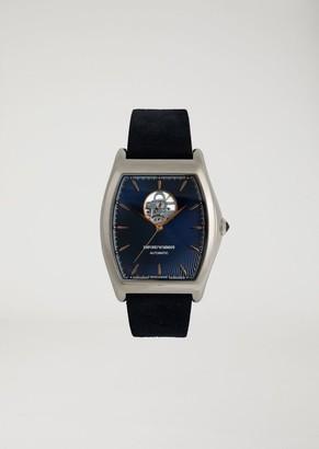 Emporio Armani Swiss Made Man Automatic Leather Watch