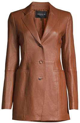 Lafayette 148 New York Jaqueline Leather Blazer