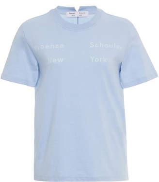Proenza Schouler White Label Jersey Ny Print Short Sleeve Tshirt