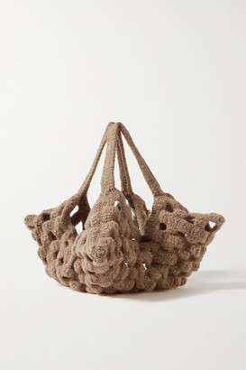 LAUREN MANOOGIAN New Grid Wool Tote - Brown
