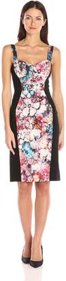 Black Halo Women's Sadie Color Block Sheath Dress