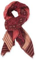 Antik Batik Women's Embroidered Cotton Scarf