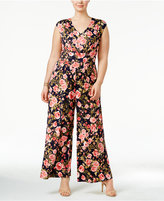 Love Squared Trendy Plus Size Floral-Print Jumpsuit