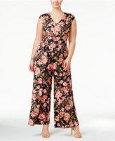 Love Squared Trendy Plus Size Floral-Print Jumpsuit