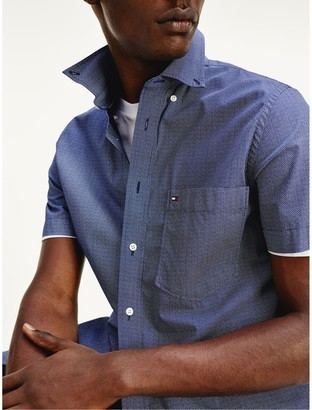 Tommy Hilfiger Slim Fit Short-Sleeve Poplin Shirt