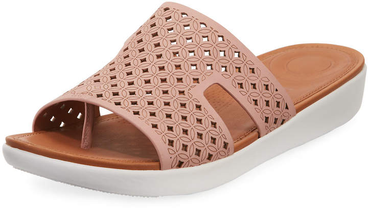 Slide Sandals Bar H Lattice Leather jLGqSUzMVp