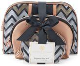 Adrienne Vittadini Studio 3-pc. Chevron Cosmetic Bag Gift Set