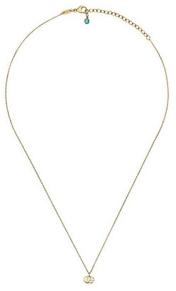 Gucci Running GG 18K Yellow Gold & Blue Topaz Necklace