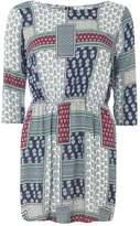 Izabel London **Izabel London Multi Navy Print Dress