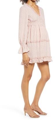 Savi Mom Venice Long Sleeve Maternity Dress