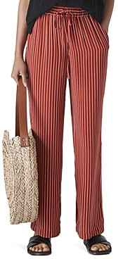 Whistles Striped Wide-Leg Pants