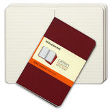 Moleskine NEW Cahier Ruled Red Pocket Journal Set 3pce
