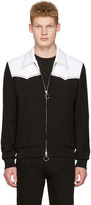 DSQUARED2 Black and White Chic Western Bomber Jacket