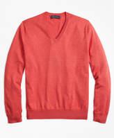 Brooks Brothers Supima® Cotton V-Neck Sweater
